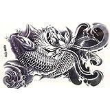 タトゥーシール 鯉 約22cm×15cm
