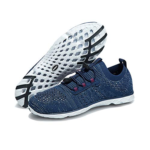 MGEOY Womens Water Shoes Lightweight Quick Dry Sport Aqua Shoes for Beach Outdoor Surfing Navy 6.5