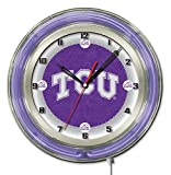 Holland Bar Stool Co. TCU 19' Neon Clock, Chrome