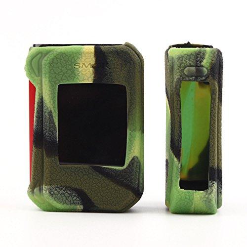 VAPORIDER Protective Silicone Case Sleeve Cover Skin Wrap for Smok G-Priv 2 230W - 1pc (Green Camo)
