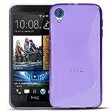 Conie SC5830 S Line Case Kompatibel mit HTC Desire 820, TPU Smartphone Hülle Transparent Matt rutschfeste Oberfläche für Desire 820 Rückseite Design Lila
