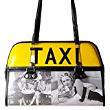 Taxi handbag with old times Hollywood star prints Vintage style memorabilia gift purse bowling satchel tote...