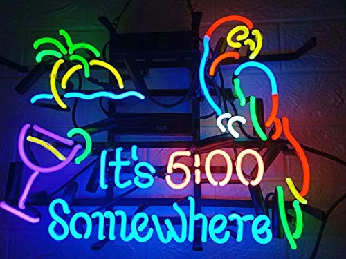 LDGJ Neon Signs It's 5 :00 S ome...