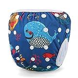 Storeofbaby Pannolino di stoffa per neonati da nuoto per ragazzi regolabile riutilizzabile...