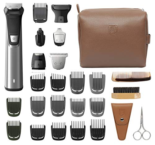 Philips Norelco Multi Groomer, 29 Piece Men's Grooming Kit MG7791/40 - No Blade Oil Needed