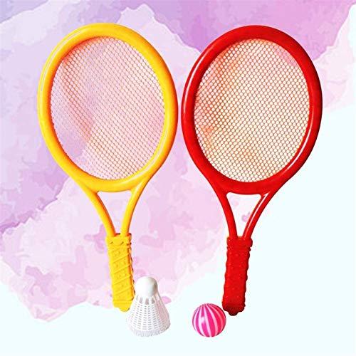 RENFEIYUAN 1 Paar Kleiner Siza mit Tennisbällen Badmintonschläger Badminton Tennis Set für Kinder Sportübungen Erwachsene Badminton Sets