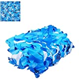 Camoufle Net Shade Net Tela Camuflaje Impermeable Camo de Paza de Oxford Lighte Ocean Camo Net para Fiesta Acuarios Parques Acuáticos Piscinas(Size:3×5m/9.8×16.4ft)
