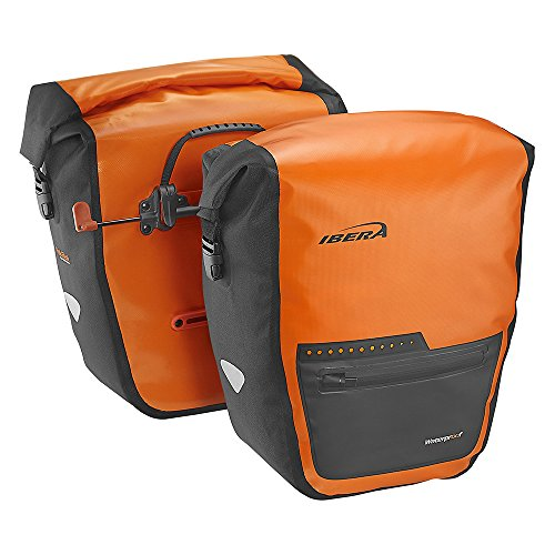 Ibera Bike 2 in 1 Pannier Bag - PakRak Clip-On Quick-Release