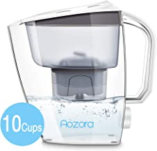 Aozora Water Filters Pitcher with 1 Filter Removing Lead Chlorine Taste , 10 Cups, White