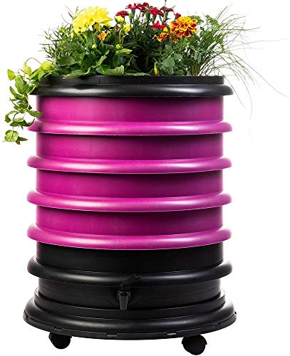 Lowest Prices! WormBox WB41FR Wormery Composter 4 Raspberry Plus Planter-72 litres, 4 Trays + Plante...