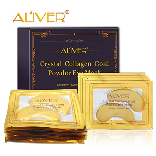 ZZLM Eye Mask/Bags / 24K Gold Gel Pads Aging Hyaluronic Acid/Patches, Collagen Treatment for Anti-Wrinkle, Reducing Dark Circles (15 Pairs, Yellow