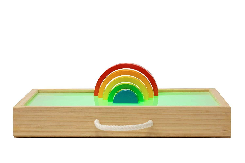 MUNDO PETIT - Mesa De Luz Montessori para Niños - Caja De Luz Montessori - El Metodo De Juguetes Montessori para Todos - Desde El Primer Año - Fabricado en España: Amazon.es: Juguetes y juegos