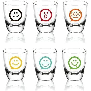 Mini Boccale fondo 6/colori Bicchieri da Shot Chopine//Vodka//Tequila Shooter