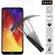 ANEWSIR for Huawei Y6 2019/Y6s screen protector【3 Pack】[Bubble-Free] [3D Full Adhesive] Tempered Glass Screen Protector for Huawei y6 2019/y6 pro 2019/honor 8A /honor 8A PRO/Y6s Screen Protector