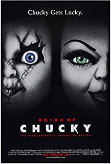 Bride of Chucky (1998) 8 inch by 10 inch PHOTOGRAPH 2 Doll Faces Movie Poster kn