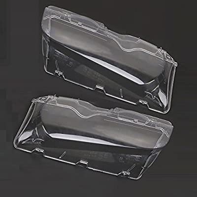Carrfan Headlight Lens Cover, 1 Pair Left and Right Side Car Headlight Headlamp Lense Clear Lens Cover Replacemnt for BMW E46 2DR M3 325Ci 01-06 Base Coupe 2 Door 1999-2003
