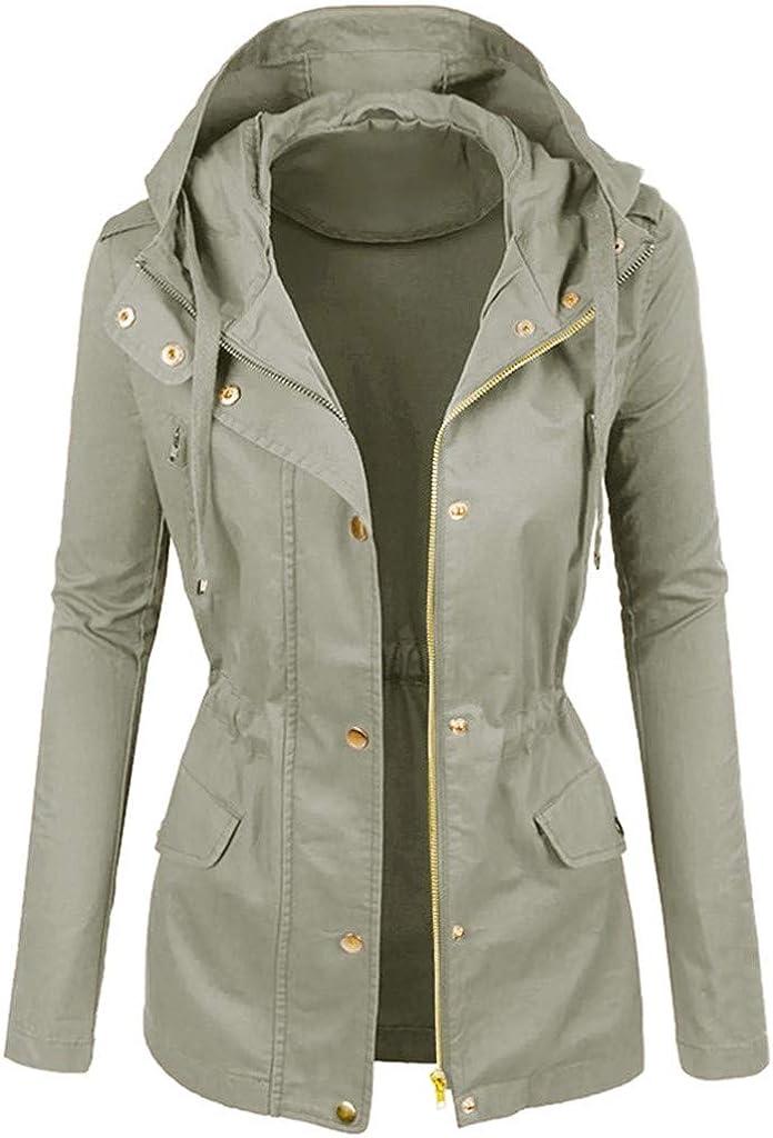 Womens Jackets Lightweight Outwear Winter Overcoat Plain Color Short Lapel Motorcycle Leather Windbreaker Raincoats