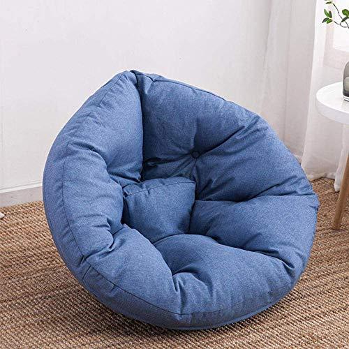WK Yaowen Personalisierte Faule Sofa Sitzsack Lounger Schlafzimmer Erkerfenster Tatami Geeignet for Erwachsene und Kinder-Gelb lili (Color : Blue)