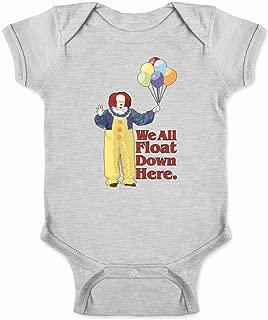 Pop Threads Clown Float Down Here Minimalist Horror Costume Infant Baby Boy Girl Bodysuit