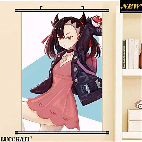 liangchaonan Pokemon Sword and Shield Sexy Cartoon Anime Wall Scroll Poster Lienzo Pintura 40 X 60 CM Q