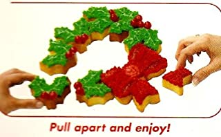 Lifetime Brands Christmas Wreath Pull-A-Part Cupcake Mold