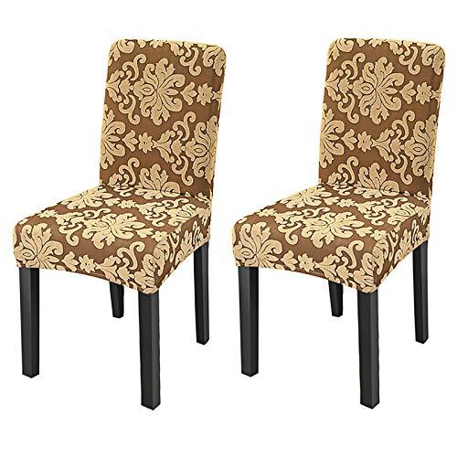 Stretchy Stuhlbezüge für Esszimmerstühle, Stretch Spandex mit Gummiband Stuhlbezug, Large Dining Chair Schonbezüge für Restaurant Hotel Party Bankett (4 Pack),Orange Yellow