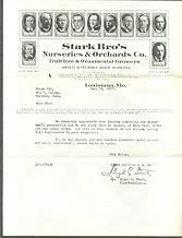 Stark Bros Nurseries Orchards Louisiana MO letter 1927