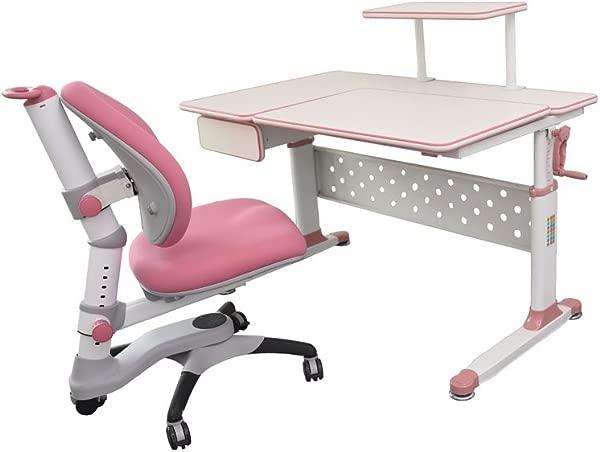 ApexDesk Little Soleil DX 43 Children S Height Adjustable Study Desk W Integrated Shelf Drawer Desk Chair Bundle In Pink