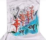 Fondo de fotografía de 3 x 3,6 m, diseño de bailarinas de ballet de cisne Lake de microfibra con forro polar de telón, con bolsillo para barra (solo telón de fondo) para fotografía de cabina de fotos
