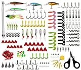 Shaddock - Juego de 170 Piezas de señuelos de Pesca, señuelos de Rana, señuelos de cráneo Minnow, cebos de Pesca, Ganchos, Espacio para haricots