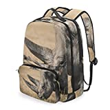 FANTAZIO - Juego de mochilas y bolso de mano, diseño de rinocerontes africanos