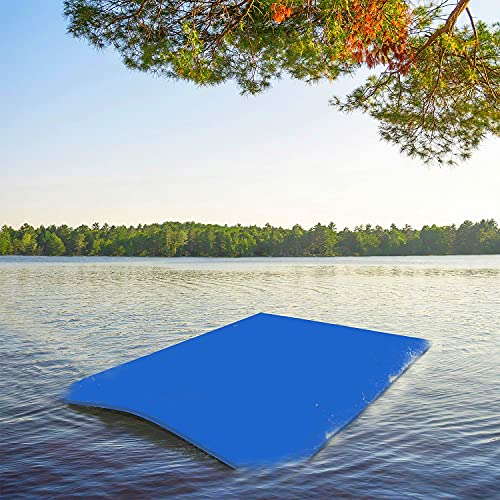 Pool Floating Water Mat Foam Water Floating Pad Lily Pad 10 x 5 FT with Storage Straps, Portable...