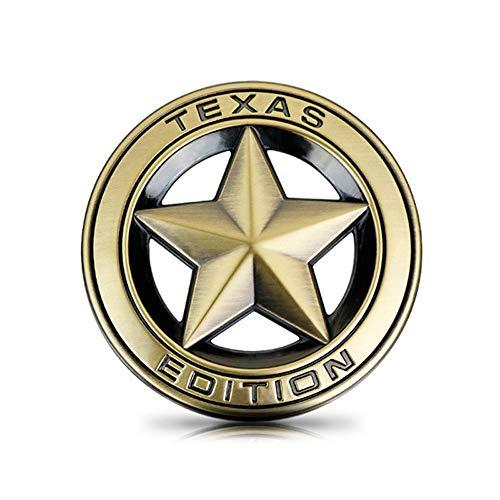 1 Stücke 3D Metall Auto Aufkleber Logo Emblem Abzeichen Auto Styling Aufkleber Für Jeep GrandCherokee Wrangler Kompass BMW FIAT Audi Toyota Lada (Bronze Gold)