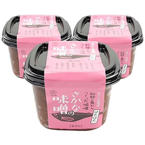 渉水産 国産 秋田 男鹿 さかなの味噌 ハタハタ 鰰 天然醸造 無添加 470g 3個
