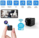 Ultra FHD 4K Spy Camera Wireless Hidden WiFi Small Camera with Night Vision, Motion Detection, Remote Viewing Mini Nanny Cam Video Recorder for Home, Indoor, Outdoor with Phone APP