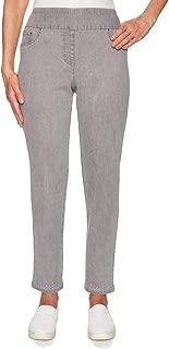 Ruby Rd. Women's Shimmer & Shine Ankle-Length Denim Embellished Pant