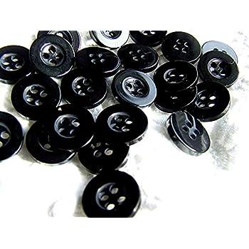 100 botones negros de 12 mm para camisa, redondos: Amazon.es: Salud y cuidado personal