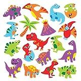 Baker Ross Autocollants dinosaures en mousse (Lot de 120) - Loisirs créatifs pour enfants
