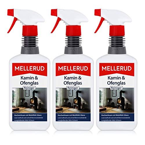 3x Mellerud Kamin und Ofenglas Reiniger Sprühflasche 500 ml