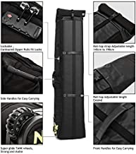XCMAN Snowboard Bag with Wheels and Lock, Reinforced Double Padding Perfect for Road Trips and Air Plane Travel, Adjustable Lenght 145cm to 190 cm, Fits 2 Sets of Skis