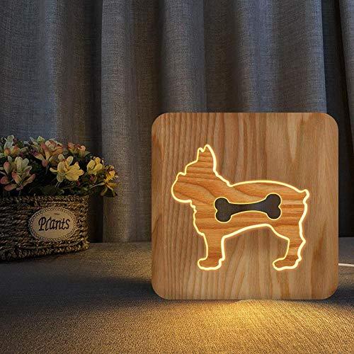 Dogbone scala legname Legno, intaglio lampada cave FS-T2172W