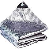 WZHIJUN Protezione Solare Panno Dell'ombra 99% Foglio di Alluminio Anti UV All'aperto Giardino Copertura Vegetale Serra Rete Ombreggiante (Color : Silver, Size : 3x5m)