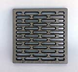 Inferramenta Rejilla de hierro fundido, 20 x 20 cm, para aireación de estufas, chimeneas, barbacoas, útil como base de apoyo de leña.