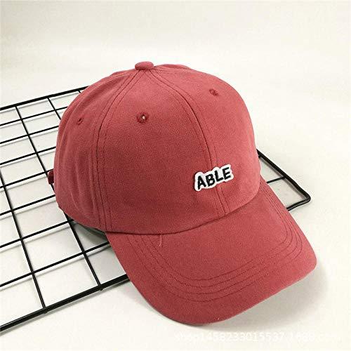 Hutmütze Gezeitenmarke Baseballmütze Männer und Frauen Trend Freizeit gewaschene Persönlichkeit junger Student Hut-M (56-58 cm)_Wein rot
