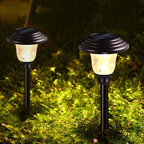 Metal Waterproof Solar Landscape Pathway Garden Lights Outdoor Charged by Solar Power Lights Outdoor Apply to Path Light, Walkway Light or Driveway Light Around The House or Yard (Bronze 6 PK)