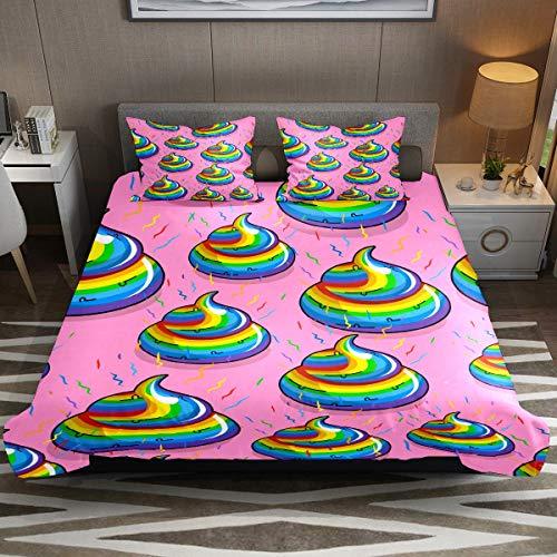 Juego de funda de edredón, juego de cama king de 3 piezas, divertido juego de sábanas con fundas de almohada, decoración de habitación para niños, niñas, adolescentes y adultos