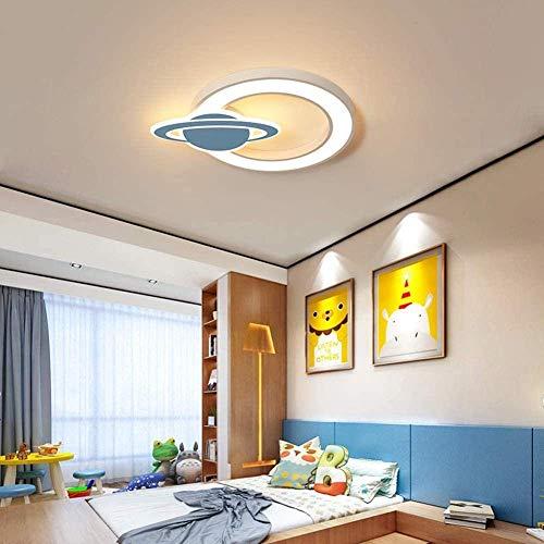Luces de techo LED para niños Luces de techo regulables para habitaciones de niños Luces de techo de dormitorio de planeta de dibujos animados creativos y modernos Luces de ojos para niños y