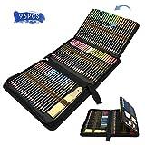 Lapices Colores Profesional, 96pcs Lápices de Dibujo Artístico para Boceto, Lapiz Dibujos con Lapices de Carboncillo y Grafito & Lápices Arte, regalo para Artistas, Estudiantes, Niños y Adultos