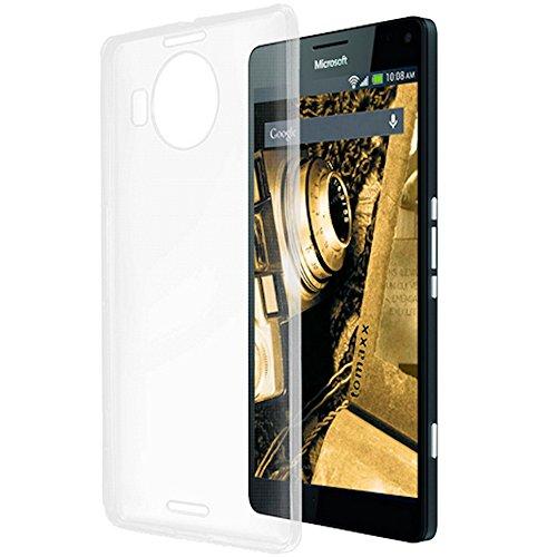 tomaxx Microsoft Lumia 950 XL/Microsoft Lumia 950 XL Dual SIM Ultra Slim Super dünn Schutzhülle Silikon Case Tasche Durchsichtig