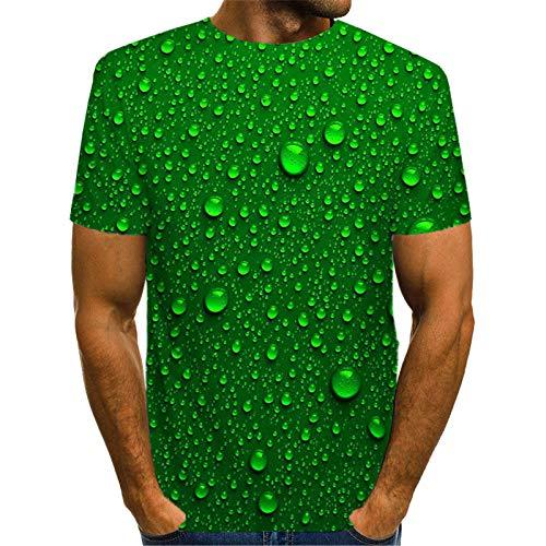 Verano Gota de Agua Fresco 3D Impreso Camiseta Hombres visión Divertida Camiseta Masculina 3D Camisetas de Manga Corta Tops Picture color17 Asian Size L